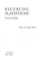 Ricerche Slavistiche Nuova serie Vol. 13 (LIX) 2015