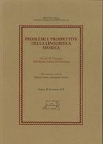 Problemi e prospettive della linguistica storica